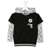 Dolce & Gabbana Kids Blusa De Moletom Com Capuz - Preto