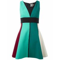 Fausto Puglisi Vestido Color Block - Green