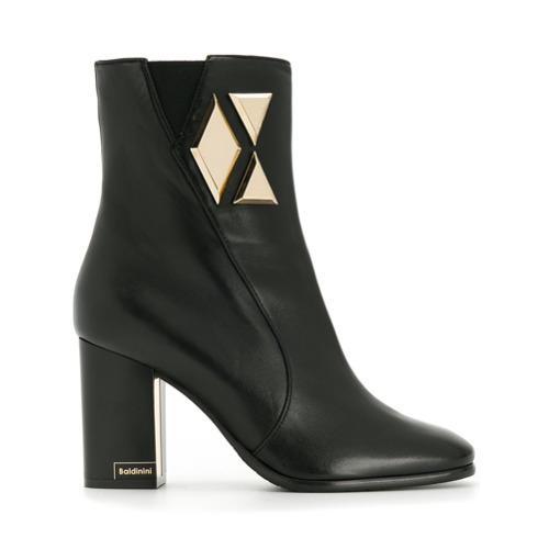 Imagem de Baldinini Ankle boot de couro 'Rica' - Preto