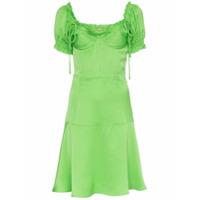 Cult Gaia Vestido Com Amarrações - Green