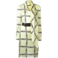 Emanuel Ungaro Vestido De Seda Com Cinto - Amarelo