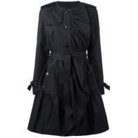 Boutique Moschino Trench Coat Com Pregas - Preto