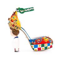Dolce & Gabbana Sandália 'carreto Siciliano' - Estampado