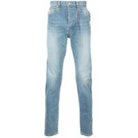 Mastermind World Calça Jeans Reta Com Detalhe De Tassel - Azul