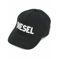 Diesel Kids Boné Com Logo Bordado - Preto