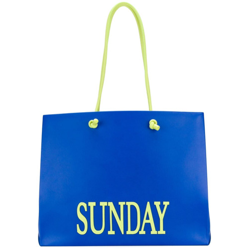Imagem de Alberta Ferretti Bolsa tote grande 'Sunday' - Azul