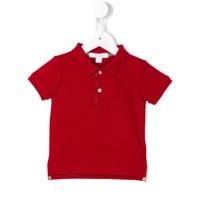 Burberry Kids Camisa Polo - Vermelho