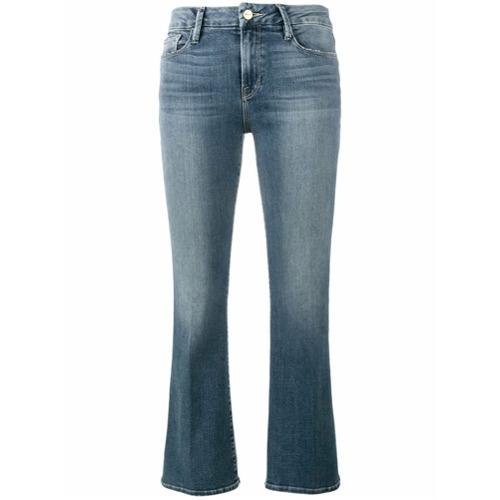 Image of Frame Denim Calça jeans flare cropped - Azul