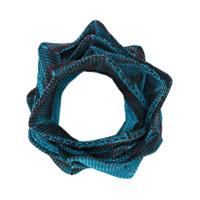 Issey Miyake Cachecol Estruturado - Azul