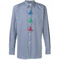 Comme Des Garçons Shirt Camisa Xadrez Com Botões - Azul
