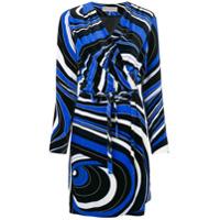 Emilio Pucci Vestido Com Padronagem Abstrata - Azul