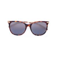 Boucheron Óculos De Sol Oversized Tartaruga - Brown
