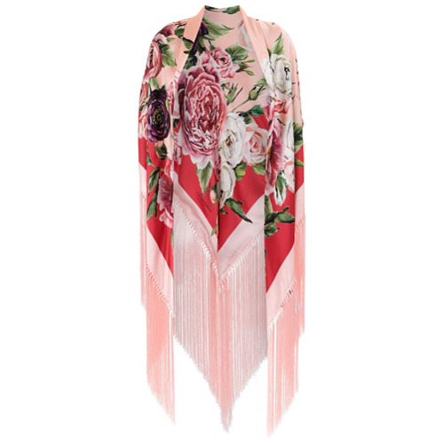 Imagem de Dolce & Gabbana Lenço seda com estampa - Rosa