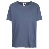 Bassike Camiseta Com Bolso No Busto - Azul