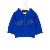 Armani Junior Moletom Com Estampa De Logo - Azul
