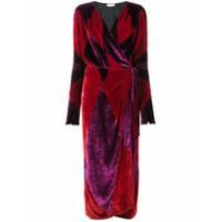Attico Vestido De Veludo - Vermelho