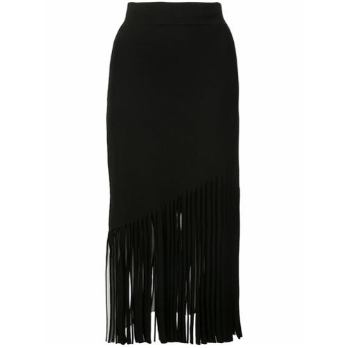 Black fringe detail skirt from Cushnie Et Ochs.
