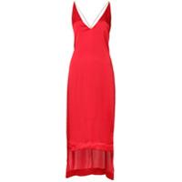 Dion Lee Vestido Assimétrico - Vermelho