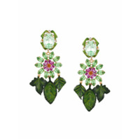 Dolce & Gabbana Par De Brincos Com Cristais Swarovski - Green