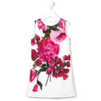 Dolce & Gabbana Kids Vestido Reto Floral - Pink & Purple