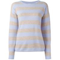 Chinti & Parker Suéter Listrado De Cashmere - Azul