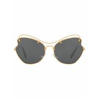 Miu Miu Eyewear Óculos De Sol Arredondado - Preto