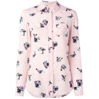 Coach Camisa De Seda Estampada - Pink & Purple