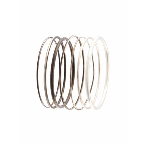 Imagem de Ann Demeulemeester Conjunto pulseiras de prata - Metallic