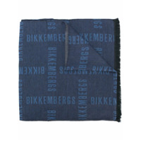 Dirk Bikkembergs Cachecol Com Estampa De Slogan - Azul