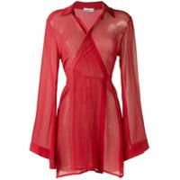 Amir Slama Vestido De Seda - Vermelho