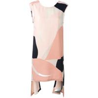 Marni Vestido Assimétrico Color Block - Preto