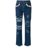 Forte Dei Marmi Couture Calça Jeans Com Detalhes Rasgados - Azul