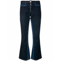 Courrèges Calça Jeans Flare - Azul