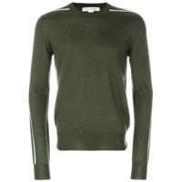 Comme Des Garçons Shirt Suéter Com Listras Nas Mangas - Green