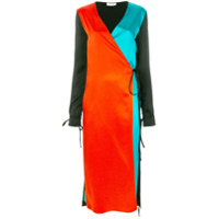 Attico Vestido Color Block - Preto