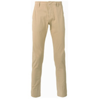 Dondup Calça Chino Slim Fit - Nude & Neutrals