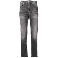 Ck Jeans Calça Jeans Skinny Destroyed - Preto