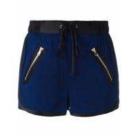 3.1 Phillip Lim Shorts Com Acabamento Em Cetim - Azul