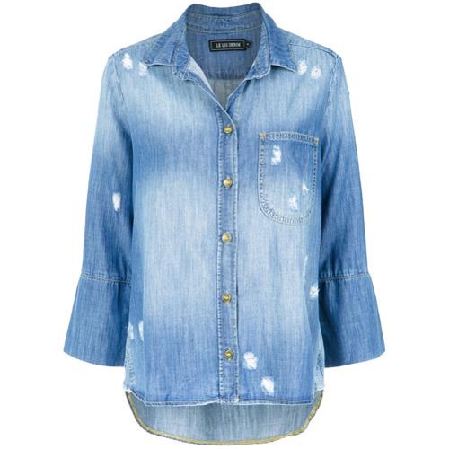 Le Lis Blanc Camisa jeans - Azul