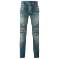 Balmain Calça Jeans Biker Skinny - Azul