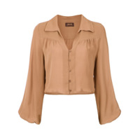A.brand Camisa Cropped - Brown
