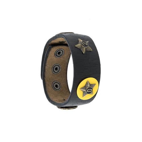 Imagem de Dsquared2 Bracelete 'Sheriff' de couro - Preto