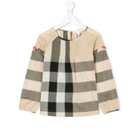 Burberry Kids Blusa Mangas Longas 'aggy' - Nude & Neutrals