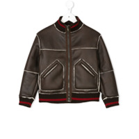 Dondup Kids Jaqueta Bomber - Brown