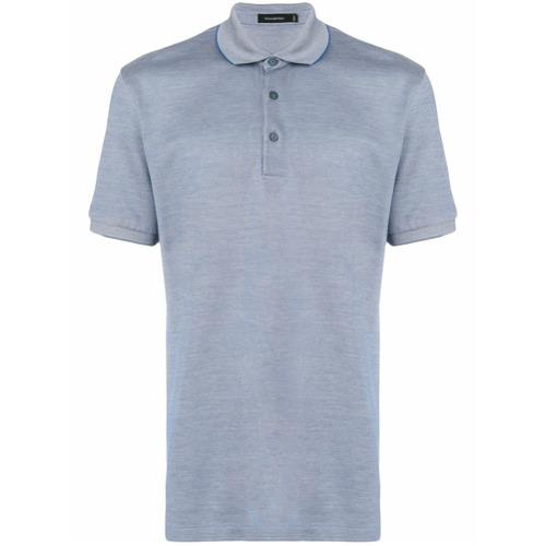 Ermenegildo Zegna Camisa polo clássica - Azul