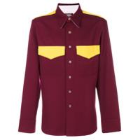 Calvin Klein 205W39Nyc Camisa De Lã Com Bolsos - Vermelho