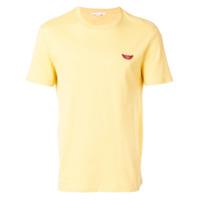 Stella Mccartney Camiseta 'no Smile No Service' - Amarelo E Laranja