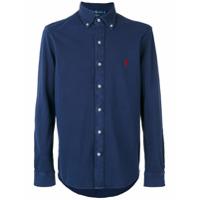 Polo Ralph Lauren Camisa Com Logo Bordado - Azul