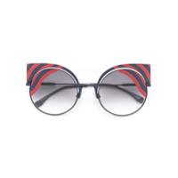 Fendi Eyewear Óculos De Sol 'hypnoshine' - Preto