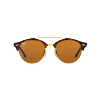 Ray-Ban Óculos De Sol 'clubround Classic' - Brown